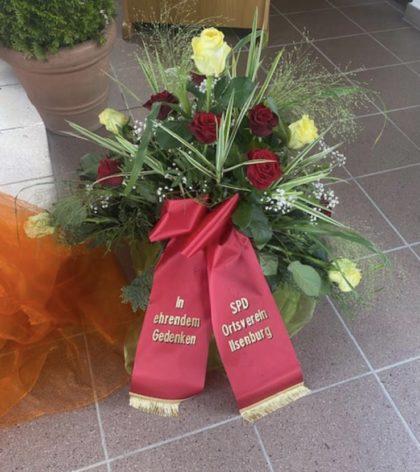 Trauerstrauß des Ortsvereins Ilsenburg - In ehrendem Gedenken